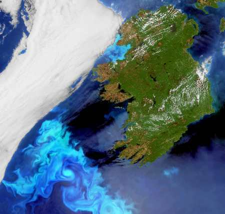 Ireland Satellite Photo